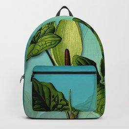 Vivid Arum & Leaves Backpack
