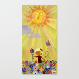 ...and one golden sun Canvas Print