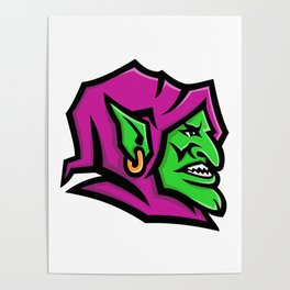Goblin Head Mascot Poster