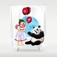balloons Shower Curtains featuring Balloons by Anna Shell