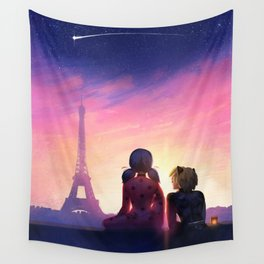 Miraculous in Paris Wall Tapestry
