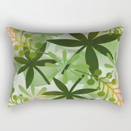 Peaches and Greens Rectangular Pillow