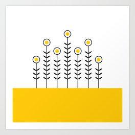 Spring Shoots (Crocus Yellow) Art Print