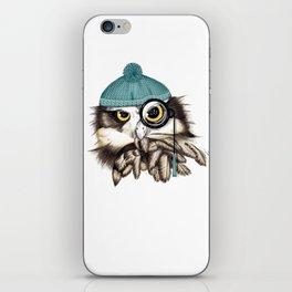 Owl eyeglass and cap iPhone Skin