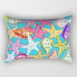 Seashells and sea stars Rectangular Pillow