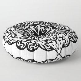 Polynesian style tattoo mandala Floor Pillow