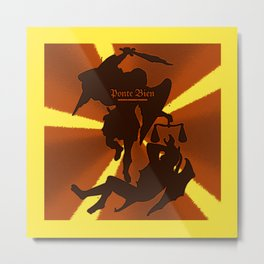 Saint Michael the Archangel - Society6 Gold leads God's armies against Satan's forces 23 Metal Print