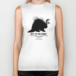 Get to the Point - Porculope Silhouette Biker Tank