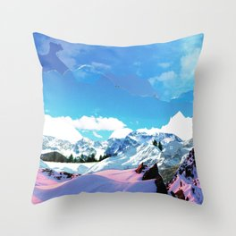 Experiment am Berg 33 Throw Pillow