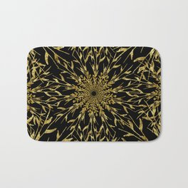 Black Gold Glam Nature Bath Mat