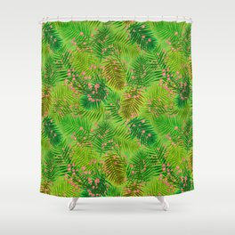 cherry in the forest Shower Curtain
