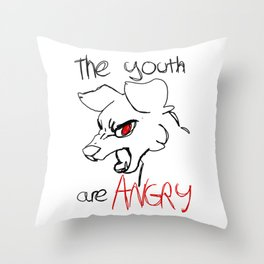 tired of your bs Throw Pillow