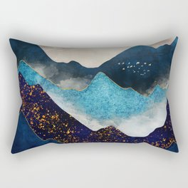 Indigo Peaks Rectangular Pillow