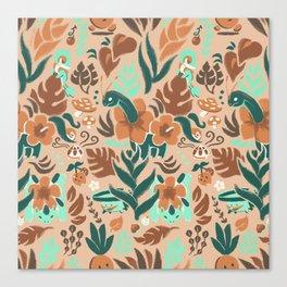 Tropical Grass Type Canvas Print
