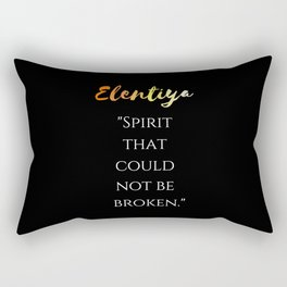 """Spirit that could not be broken"" (black) Rectangular Pillow"