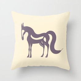 The Essence of a Horse (Beige and Mauve) Throw Pillow