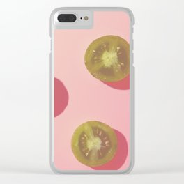 #3_Green Tomatoes in pink Clear iPhone Case