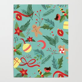 Christmas Pattern 5 Poster