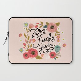 Pretty Swe*ry: Zero Fucks Given, in Pink Laptop Sleeve