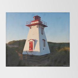 Lighthouse in the Dunes Throw Blanket