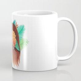 Tropical Flower Girl Coffee Mug