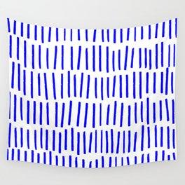 Blue Scandi Paint Print Wall Tapestry