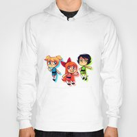 powerpuff girls Hoodies featuring PowerPuff Girls by lemonteaflower