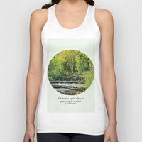 fitzgerald Tank Tops featuring fall leaves + f scott fitzgerald by lissalaine