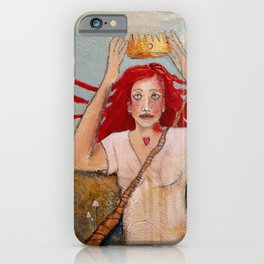 Crowning Herself iPhone Case