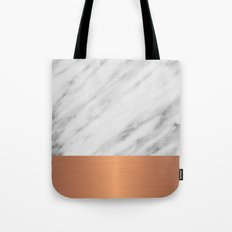 Carrara Italian Marble Holiday Rose Gold Edition Tote Bag