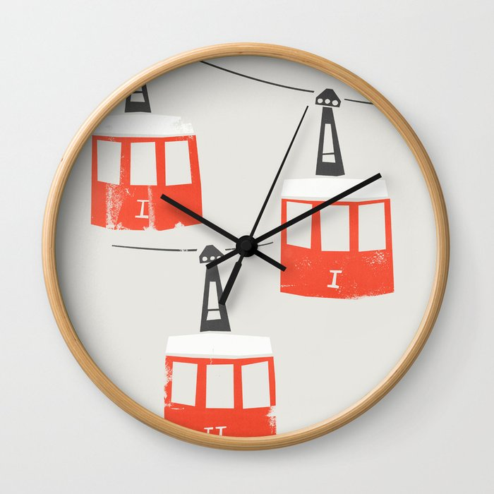 Barcelona Cable Cars Wall Clock