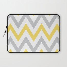 Gray & Yellow Chevron Laptop Sleeve
