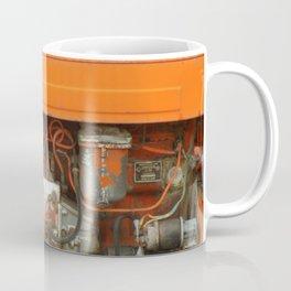 Orange Tractor Abstract Coffee Mug