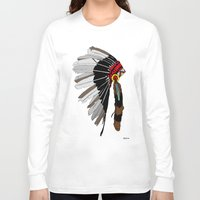 native Long Sleeve T-shirts featuring Native  by weliketrees