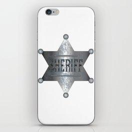 Sheriff Badge iPhone Skin