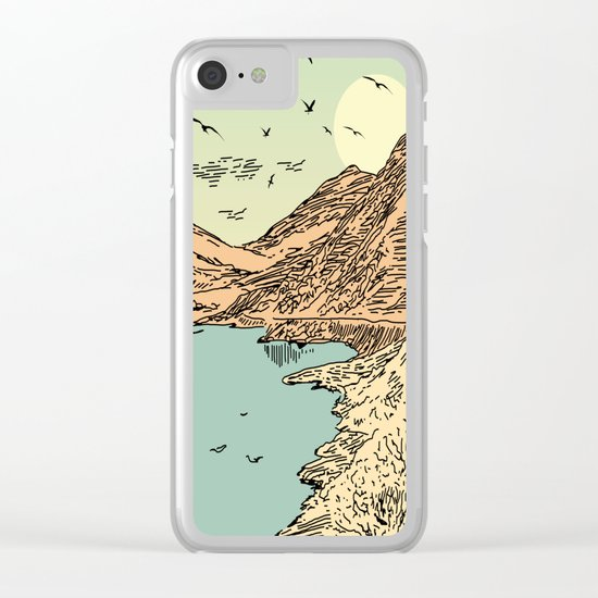 Mountain, Train & Lake Clear iPhone Case