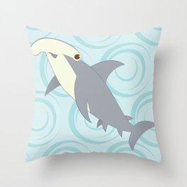 Shock Cousteau Hammerhead Shark Throw Pillow