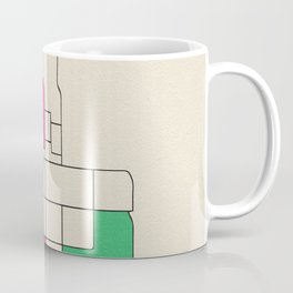 Colorful City Maps: Anchorage, Alaska Coffee Mug