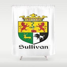 Family Crest - Sullivan - Coat of Arms Shower Curtain