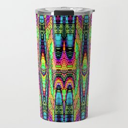 Color confession, fractal abstract with decorative tribal patterns Travel Mug