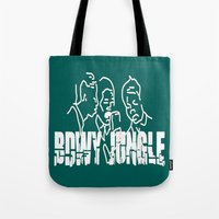 reggae Tote Bags featuring Singing Reggae - Bdwy Jungle by The Peanut Line
