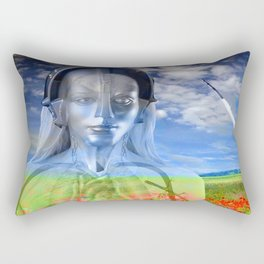 Silver Machine Rectangular Pillow