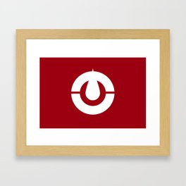 kochi region flag japan prefecture Framed Art Print
