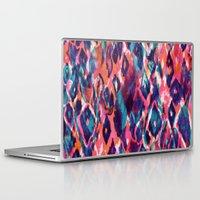 ikat Laptop & iPad Skins featuring Mystical Ikat by Nikkistrange