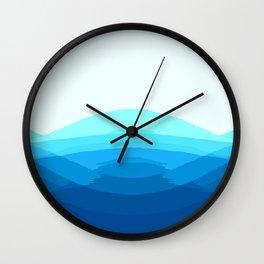 Turquoise Aqua Ombre Wall Clock