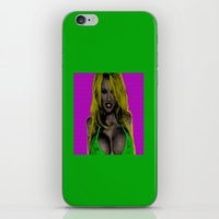 wes anderson iPhone & iPod Skins featuring Pamela Anderson by Dora Birgis