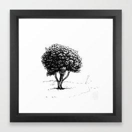 Tree sketch Framed Art Print