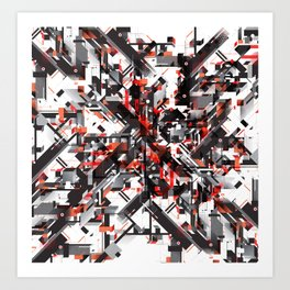 Space distortion Art Print