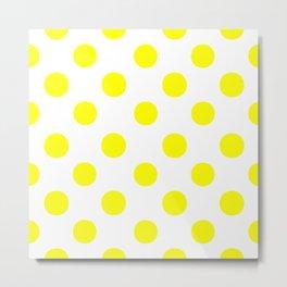 Polka Dots (Yellow/White) Metal Print