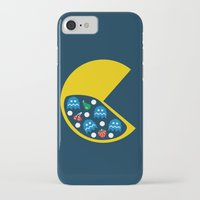 8 bit iPhone & iPod Cases featuring 8-Bit Breakfast by Byway
